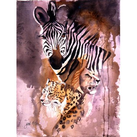 Cheetah, Lion, And Zebra Flag Canvas House Size - image 1 of 1