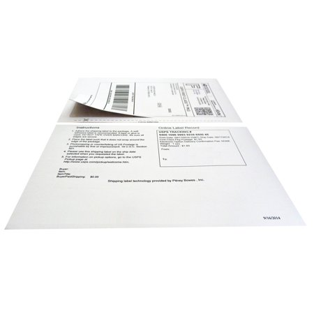 Durabrand Paypal And Ebay Clicknship Adhesive Labels With Tear Off Paper Receipt
