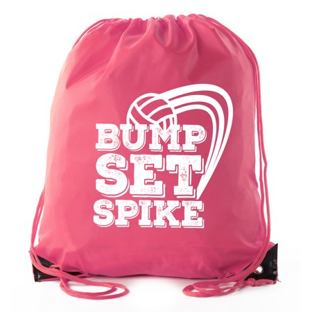 Mato & Hash Adult and Child Volleyball Drawstring Backpacks Bags (Custom Drawstring Backpack)