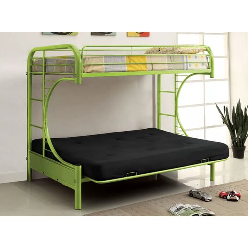 Zoomie Kids Quezada Twin Over Full Futon Bunk Bed Walmart Com