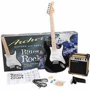Archer SS10 Blues and Rock Jr. Electric Guitar Package - Black