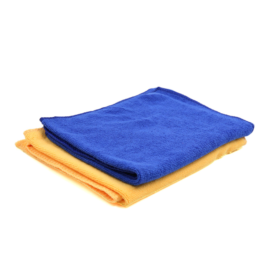 2pcs 65 x 33cm 250GSM Microfiber Towel Clean Cloths for Car Washing Blue Yellow - image 5 of 5