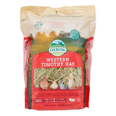 Oxbow Western Timothy Hay Small Animal Food, 15 Oz