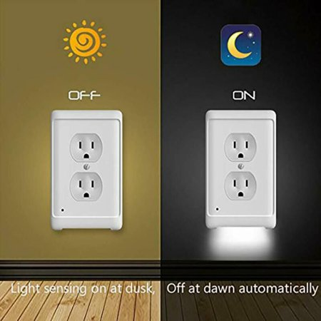 Night Angel Duplex High Quality Durable Convenient Outlet Cover Wall Plate With Led Night Lights Ambient Light Sensor Walmart Canada
