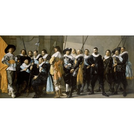 Militia Company Of District Xi Under The Command Of Captain Reynier Reael Canvas Art     24 X 18