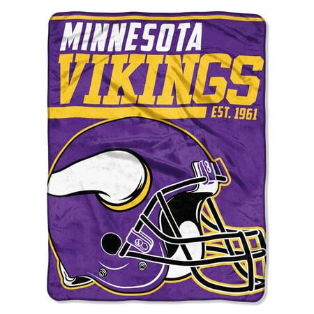 "Minnesota Vikings Nfl Light - NFL Minnesota Vikings ""40-Yard Dash"" 46""x 60"" Micro Raschel Throw"