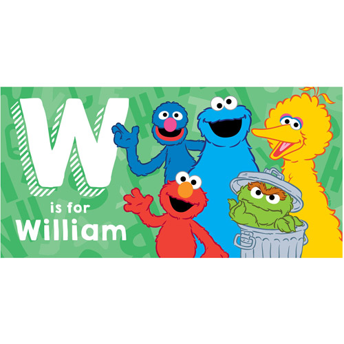 Personalized Sesame Street Alphabet Beach Towel