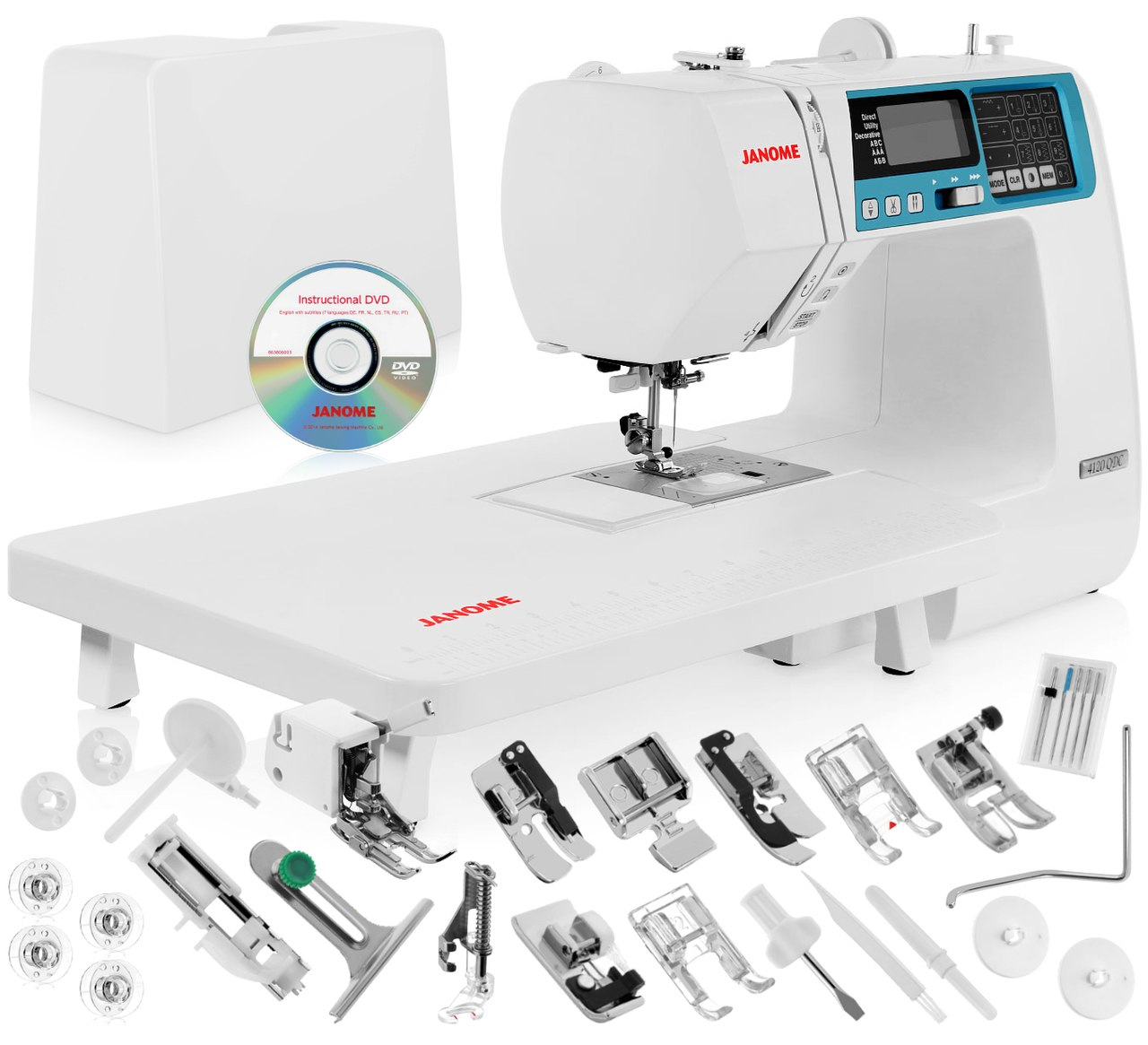 Janome 4120QDC Computerized Sewing Machine w/ Hard Case + Extension Table