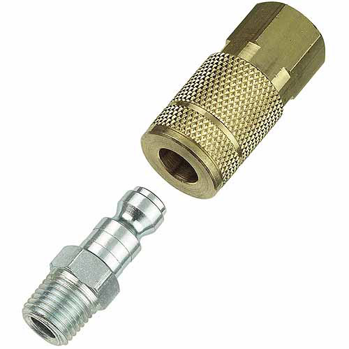 """Plews And Edelman Tomkins 13-101 1/4"""" Female Coupler With1/4"""" Male Nipple"""