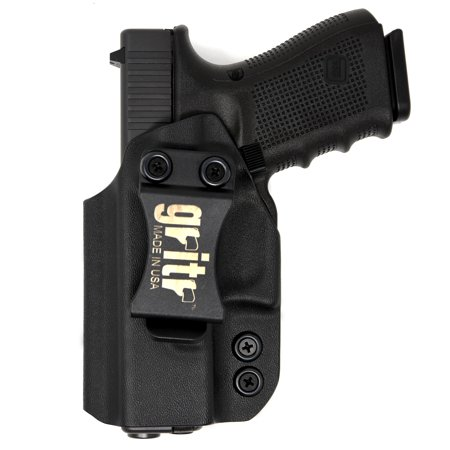 Gritr Holsters Universal Holster for Glock 17, 19, 22, 23, 26, 27, 31, 32, 33 (Gen 1-5) - IWB Holster - Inside The Waistband, Made in USA,KYDEX, Right (Best Kydex Iwb Holster For Glock 26)