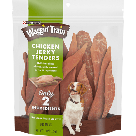 Purina Waggin' Train Limited Ingredient, Grain Free Dog Treat, Chicken Jerky Tenders - 11 oz. Pouch ()