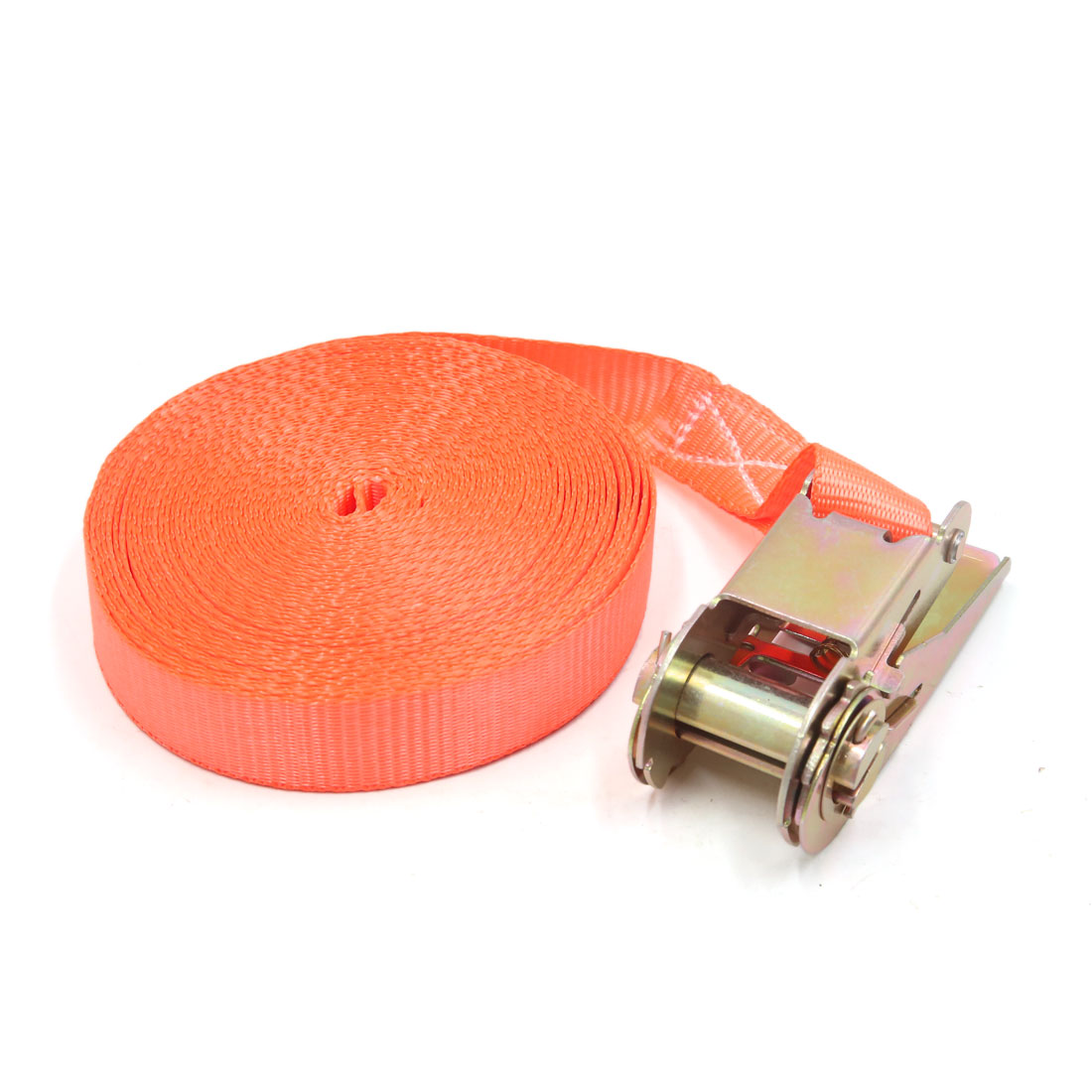 25mm x 10m Orange Polyester Ratchet Tie Down Cargo Straps for Car Vehicle