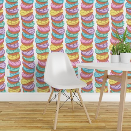 Peel and Stick Removable Wallpaper Pastel Colors Shells Mexican Food P