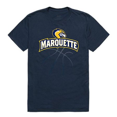 W Republic Apparel 510-130-BGT-01 Marquette University Basketball Tee for Men, Navy - Small