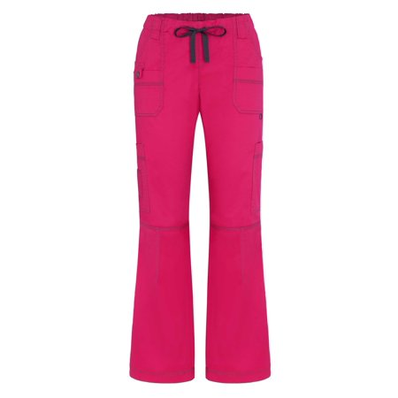 Adar Pop-Stretch Junior Fit Low Rise Multi Pocket Straight Leg Pants Petite - 3100P - Fuchsia - XS