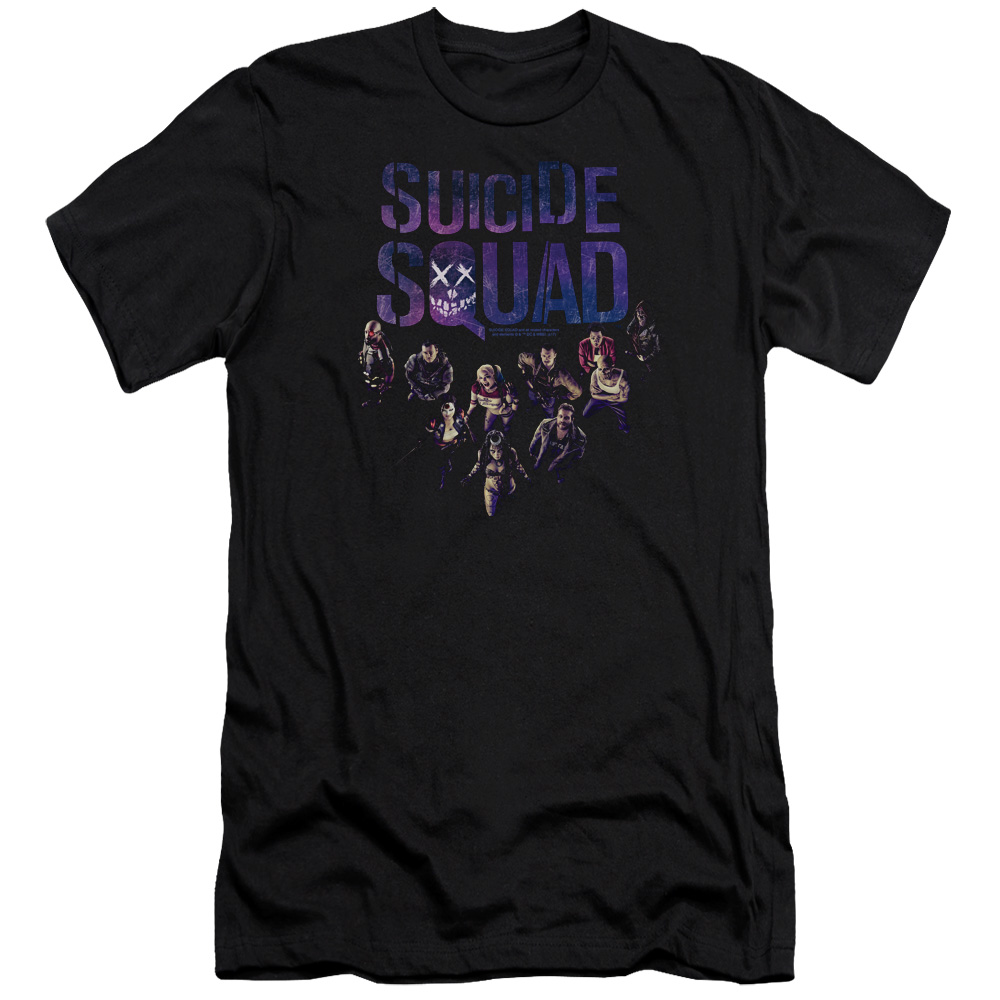Suicide Squad Suicide Group Smile Mens Premium Slim Fit Shirt