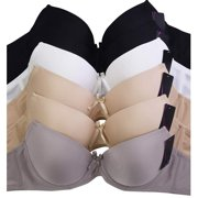 DailyWear Womens Everyday 6 Pack of Bras (4210p2 - Strapless, 36B)