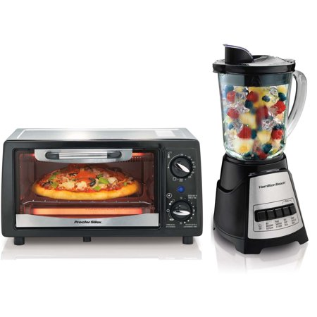 Hamilton Beach 31137 + 58148 Countertop Toaster Oven & Blender ...