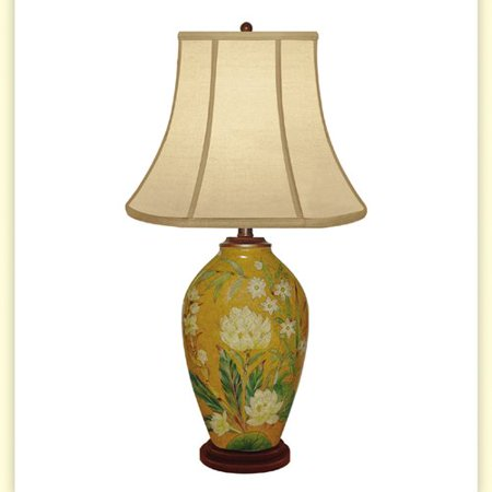 - JB Hirsch Home Decor Clove Bud Hand Painted Porcelain 29'' Table Lamp