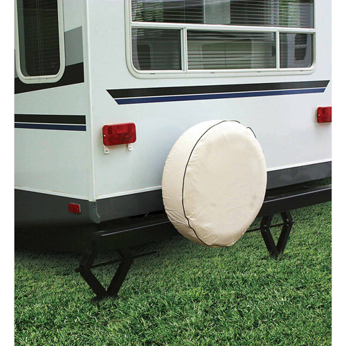 "Camco 24"" RV Spare Tire Vinyl Cover, Colonial White"