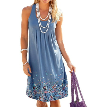 Collar Vest Dress (Sleeveless Summer Casual Bench Women Vest Mini Dress )