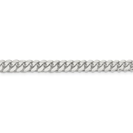925 Sterling Silver 6.4mm Domed Link Curb Bracelet Chain 8 Inch Man Fine Jewelry For Dad Mens Gifts For Him - image 4 de 8