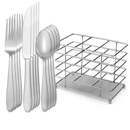 Oneida Eve 12 Piece Casual Stainless Steel Dishwasher Safe
