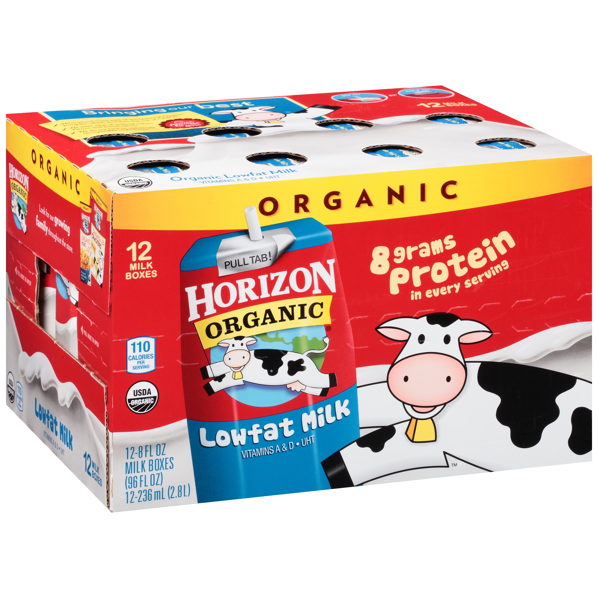 Horizon Organic Lowfat Milk, 8 fl oz, 12 Ct