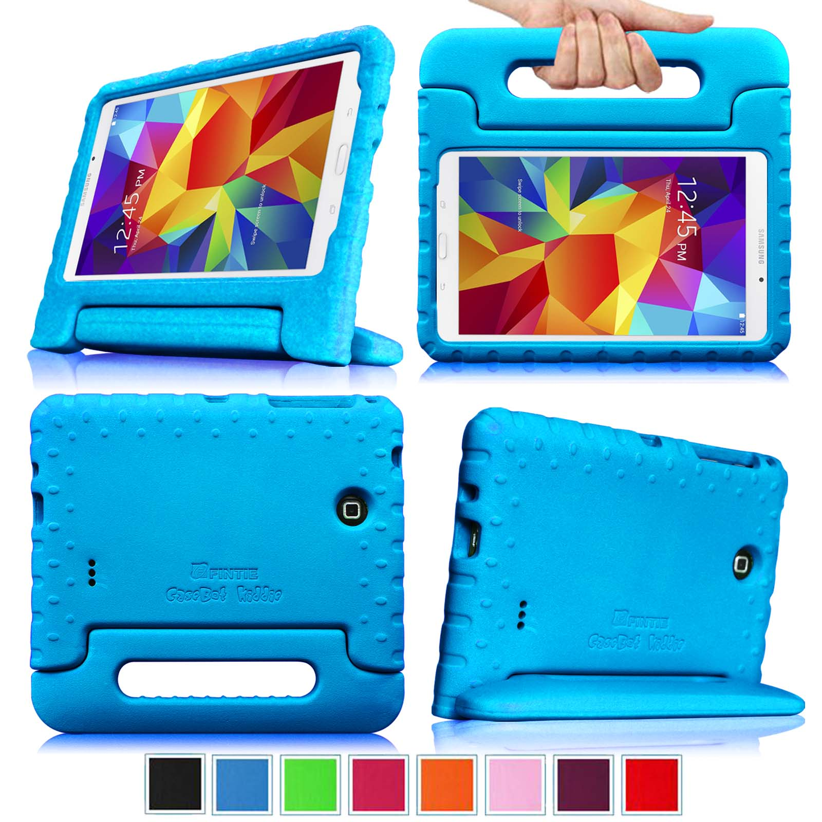Samsung Galaxy Tab 4 7.0 Inch Kiddie Case - Fintie  Lightweight Shock Proof Convertible Handle Stand Kids Friendly, Blue