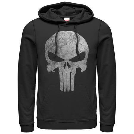 Marvel Men's Punisher Retro Skull Symbol Hoodie