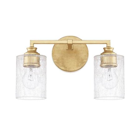 Capital Lighting Milan - Two Light Bath Vanity, Capital Gold Finish with Iced -