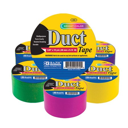 Yard Assorted Fluorescent Colored Duct Tape (Set of 36), Duct Tape - Colored Duct Tape