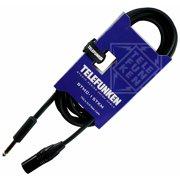 Telefunken Studio Series TRS - XLR Male Cable 10 ft. Black