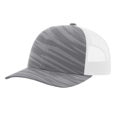 9d1b35e68be9f Richardson - Richardson - Patterned Structured mid-profile Snapback Precurved  Trucker Cap - Walmart.com