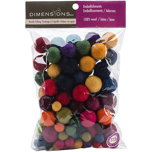 Feltworks Embellishments Value Pack Ball Assortment-Assorted Colors, 115pk