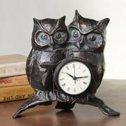 SPI Home Nighttime Love Owl Pair Clock