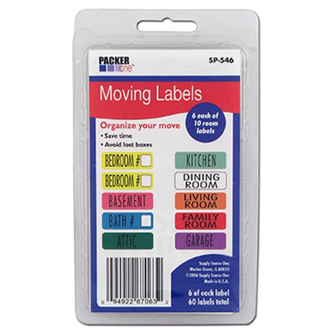 Schwarz Supply SP-546 Moving Labels, 60 Count