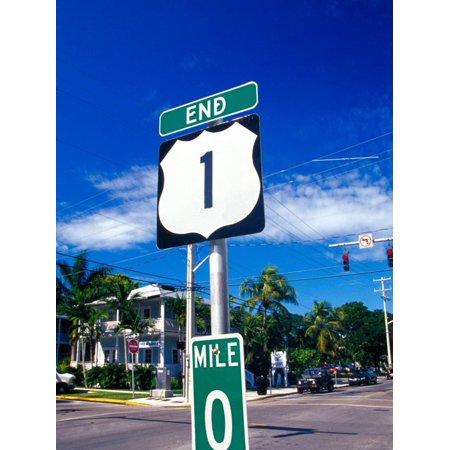 Mile Marker 0, Key West, Florida Keys, Florida, USA Print Wall Art By Terry Eggers ()