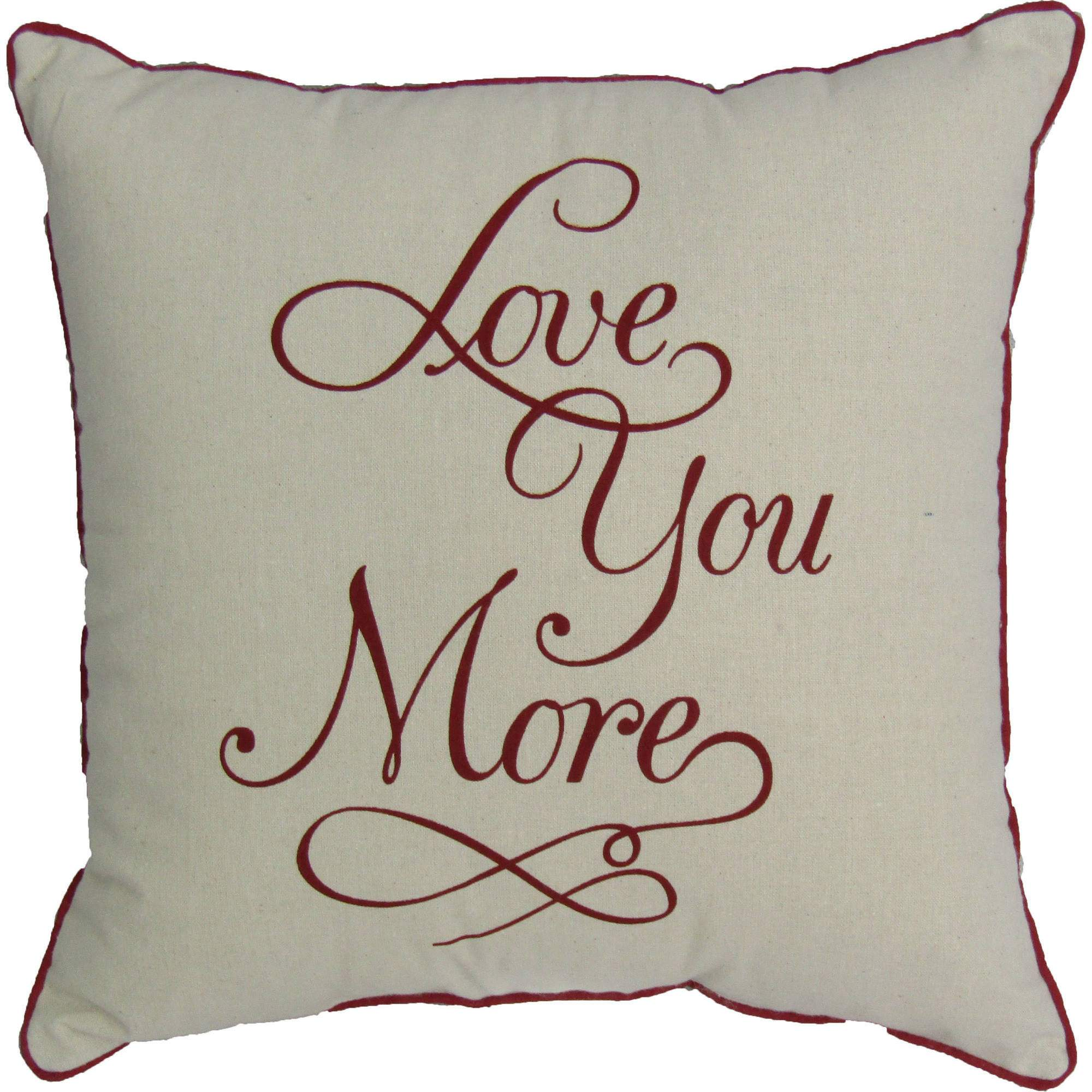 Mainstays Love You More Pillow by MAINSTAYS