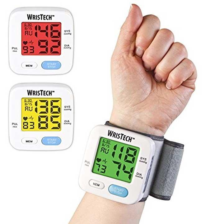 Wristech Blood Pressure Monitor With Adjustable Wrist Cuff Color Changing Lcd Monitor - image 1 de 1
