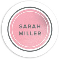 Graceful Script - Personalized 1.75 Circle Seal Sticker