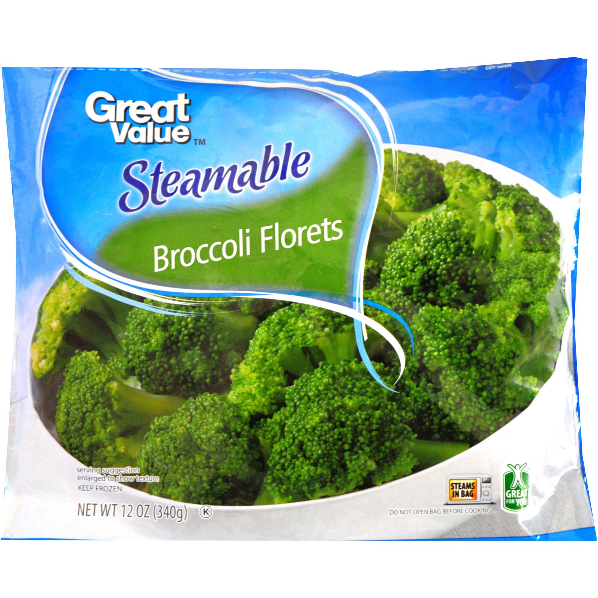 Great Value(tm) Steamable Broccoli Florets, 12 oz
