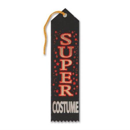 "Beistle HAR511 Super Costume Award Ribbon, 2"" x 8"" 6 Ribbons Per Package"