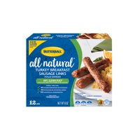 Butterball All Natural Turkey Breakfast Sausage Links, 12 Links, 8 oz.