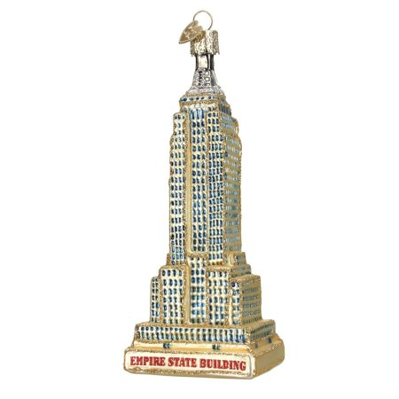 Empire State Building Glass Blown Ornament  Hand Crafted In Age Old Tradition Using Techniques That Originated In The 1800S By Old World Christmas