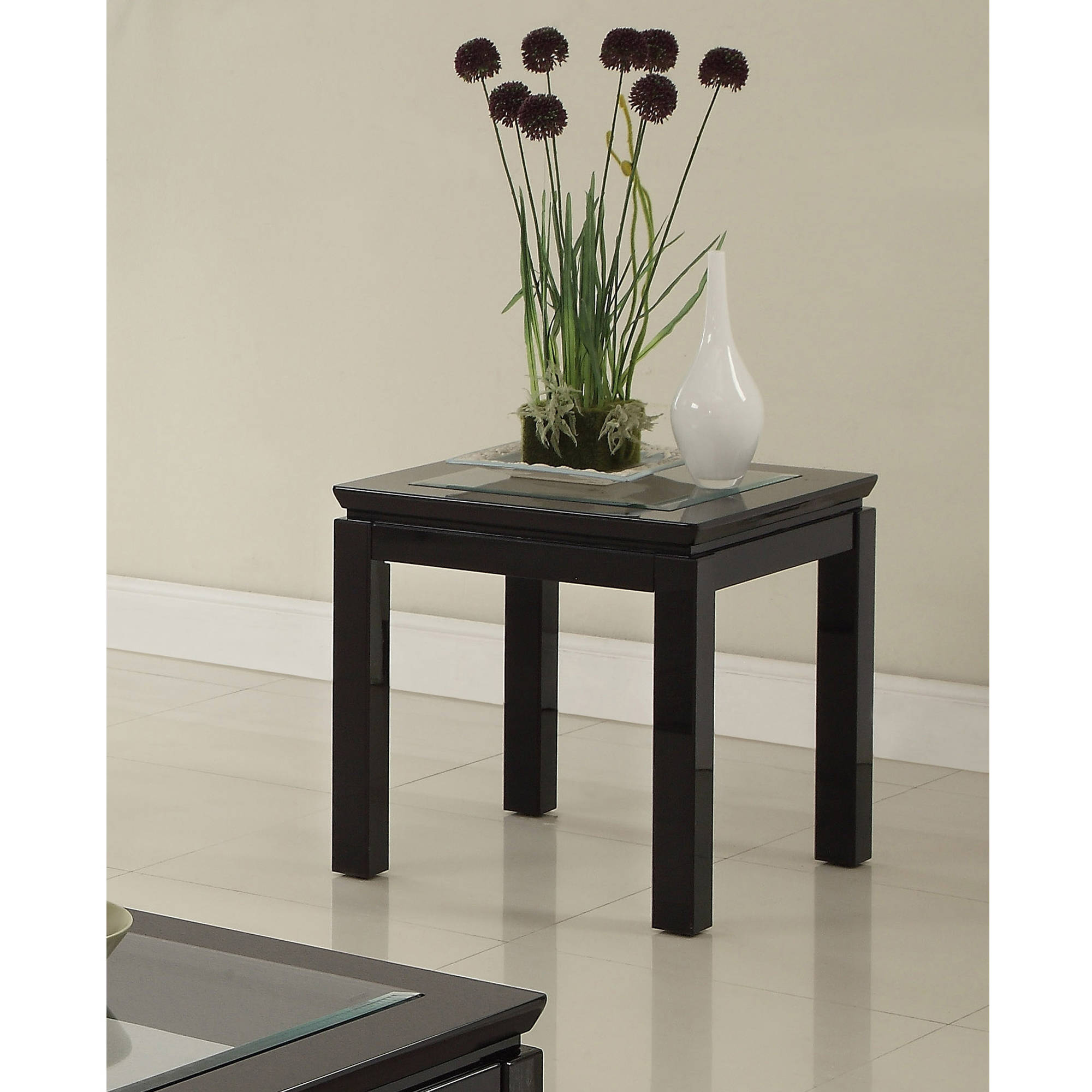 Furniture Of America Lalia Contemporary Glass End Table, Multiple Colors  Available