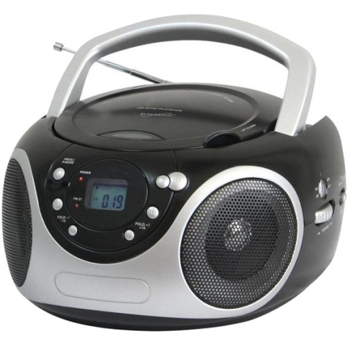 Supersonic Portable CD Player with AUX Input and AM FM Radio-Black by Supersonic