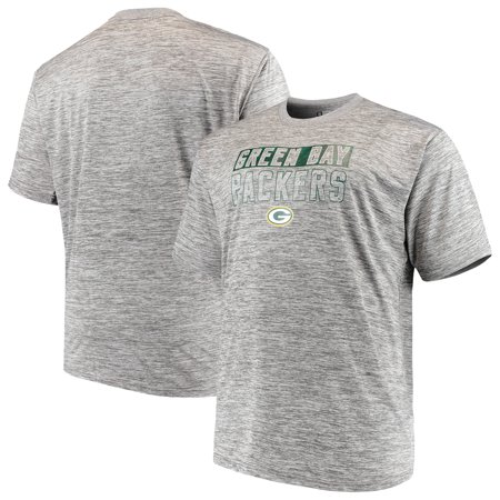 Cw Jersey - Men's Majestic Heathered Gray Green Bay Packers Big & Tall Last Chance Ply Reflective T-Shirt