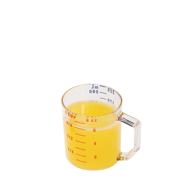 "3-1 2"" Polycarbonate Measuring Cup, Clear ,Cambro, CA25MCCW135 by Cambro Manufacturing Co"