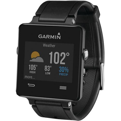 Garmin vvoactive Smartwatch 28.6mm Plastic Black Silicone (Unlocked) 010-01297-10